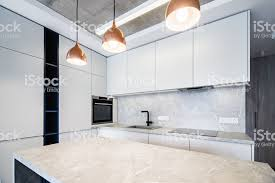 how to make a kitchen island with stock cabinets new kitchen ready to make proper food stock photo image now