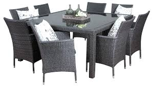 Black Extendable Dining Table Dining Table Smoked Grey Glass Dining Table Gray Frosted