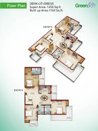 greenarch floor plans 2 3 4 bhk apartment in greater noida west