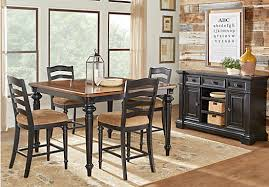 Pub Height Dining Room Sets Church Highway To Home Arrow Ridge Ebony 5 Pc Counter Height
