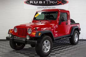 red jeep wrangler unlimited 2006 jeep wrangler rubicon rubitrux conversion red