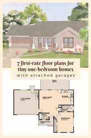 7 first rate floor plans for tiny one bedroom homes with attached