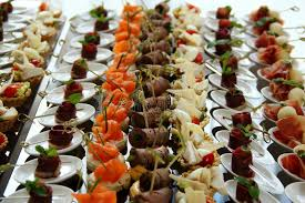 canapé cocktail wedding reception food canape set ctock photo stock photo image of