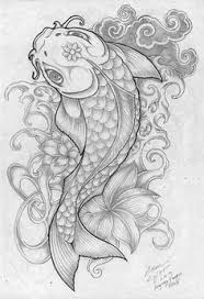 imagenes de pez koi a lapiz pin de ed williams en fish flower tattoos pinterest lápiz