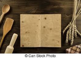 livre de cuisine fait maison vieux bois vendange haut menu arrière plan livre image