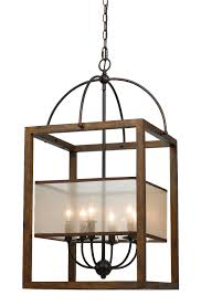 Iron And Wood Chandelier Iron Wood Sheer Shade Chandelier 19 Fx 3536 6l