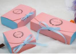 wedding cake gift boxes bi color paper gift cake packaging boxes wholesale ribbon decorate