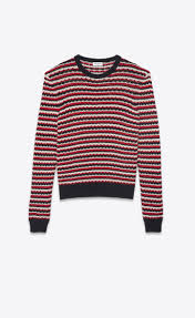 sweater in laurent striped sweater in a black and white