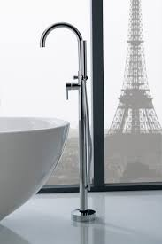 modern kitchen faucet graff me the striking m e 25 floor mounted tub filler stands tall in any