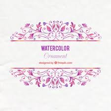 watercolor floral ornaments background vector premium