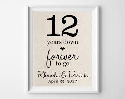 12 year anniversary gift for 12 years forever to go 12th anniversary gift for
