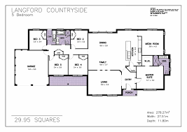 country floor plans floor plans for single level ideas and beautiful 5 bedroom one