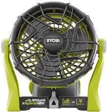battery operated fans ryobi 18v one fan review
