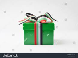 Colors Of Uae Flag Green Color Gift Box Wrapped Uae Stock Photo 230411662 Shutterstock