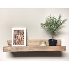rustic wooden picture ledge shelf gallery wall shelf rustic