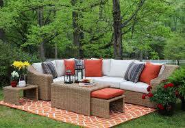 ae outdoor arizona 4 piece sunbrella sectional set with cushions