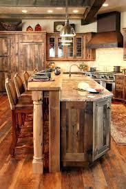 cuisines rustiques bois table cuisine bois brut meuble cuisine rustique bar de cuisine en