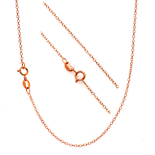 rose gold chain necklace images 18k rose gold over sterling silver 18quot thin cable chain 18