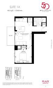 20 joe shuster way floor plans 50 wellesley condos floor plans 1 a model