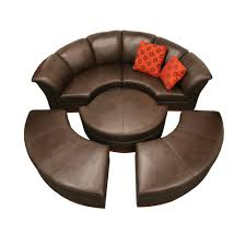 Circular Sofas Living Room Furniture Unique Couch With A Full Circle Made Of Material Colored Skin With