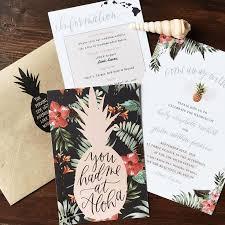 hawaiian themed wedding invitations best 25 hawaiian destination weddings ideas on