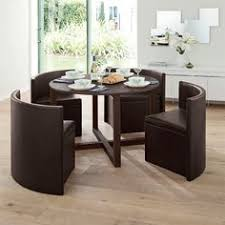Round Dining Table  Chairs For Small Homes Space Saving Table - Dining table with hidden chairs