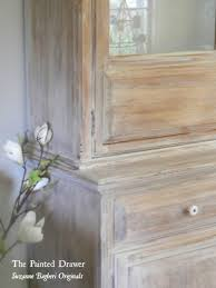 Chalk Paint Colors For Furniture by Whitewashed Farmhouse Cabinet Using Annie Sloan Paint With