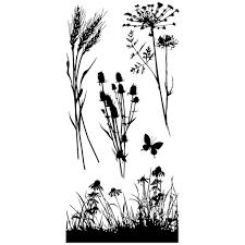 inkadinkado meadow clear stamps