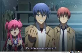 Angel Beats Memes - angel beats increased by nekomaru meme center