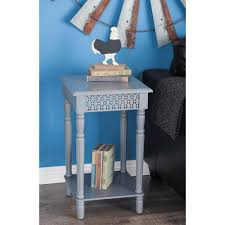 Decorative Paneling Home Depot Vintage Square Gray Side Table With Decorative Panels 60181 The