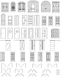 Kitchen Design Autocad Autocad Doors Blocks Library Exterior Door Autocad Symbol