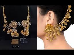 gold plated earrings designer gold plated earrings designs bhahubali jewellery