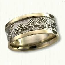 elvish wedding rings custom two tone elvish band custom wedding bands