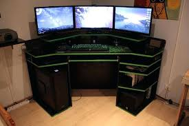l shaped gaming computer desk corner gaming computer desk l shaped u onsingularity com