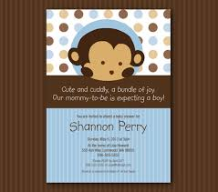 monkey invitations baby shower blue monkey baby shower invitation matches mod pod pop monkey