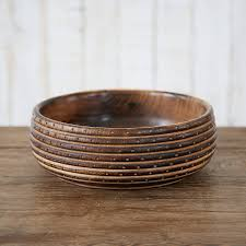 wooden bowl carved wooden bowl by paper high notonthehighstreet