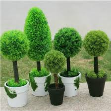 5 styles idyllic decorative potted plants artificial grass