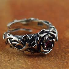 gothic rings images Japan gothic jewelry thorny rose gothic silver 925 sterling silver jpg