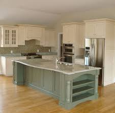 green kitchen cabinets with white island extraordinary white kitchen cabinets green island outdoor