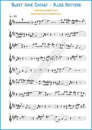 sheet music and playalong of sweet home chicago by blues brothers