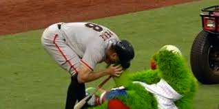 Hunter Pence Memes - gif hunter pence saves phillie phanatic with cpr notsportscenter
