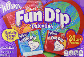 valentines cards wonka dip card candy kit 24 count