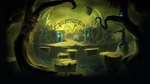 halloween carnival background image dark arcana the carnival background youre barking up the