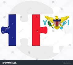 Us Virgin Island Flag France Virgin Islands Us Flags Puzzle Stock Vector 332910134
