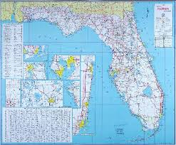 florida highway map 1960 official florida road map