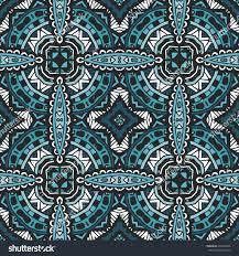 abstract geometric tiles bohemian ethnic seamless stock vector