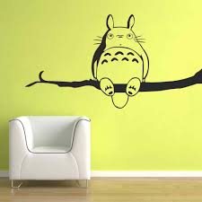 compare prices on totoro stickers online shopping buy low price my neighbor totoro vinyl wall sticker inspired chu and chibi totoro wall decal for children bedroom