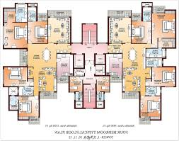 Four Bedroom House Floor Plans by Awesome 90 2 Bedroom Luxury Apartment Floor Plans Decorating