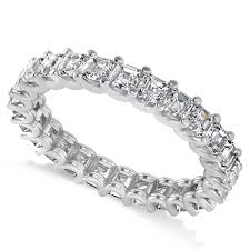 eternity wedding bands radiant cut diamond eternity wedding band ring 14k white gold 2 60ct