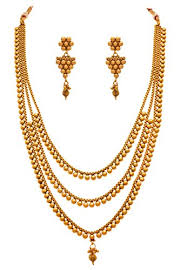 long ethnic necklace images Jfl traditional ethnic one gram gold plated designer multi jpg
